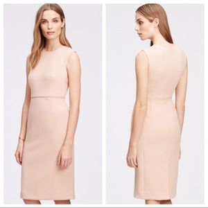 Ann Taylor Dresses - Ann Taylor Sz 6 Pink Sleeveless Piped Sheath Dress